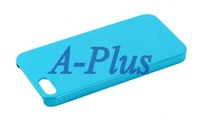 5pcs/lot Ultra-thin Blue Cream Hard Shell Cover Case + Clear Protector + Touch Pen For iPhone 5S 5