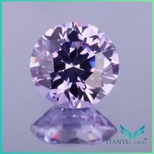 wholesale round brilliant faceted light purplish blue gemstone american material bulk diamonds for jewelry making free sample