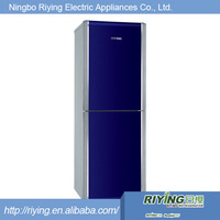Silvery white/red Double Door Refrigerator