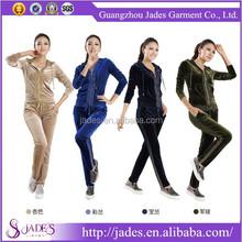 High quality china brand custom velour tracksuits wholesale