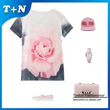 Camiseta Ajustada Dri con Diseño Personalizado Estampado de Cortar Y Coser