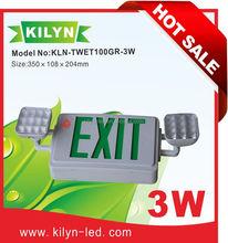 KILYN UL CUL LED emergency exit rechargeablesolarled rechargeableled red emergency lighting power pack