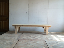 Antique reclaimed wood washes white white rustic coffee table
