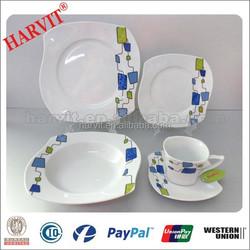 2015 New Tableware S Shape Geometric Pattern Dinner Sets Prices/Germany Porcelain Dinnerware Sets