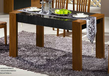 fashion dinning table in wood and glass, design table wood furniture