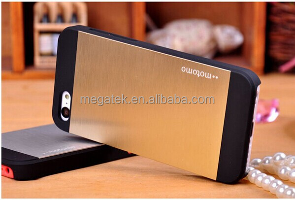 Motomo PC+Aluminum mobile phone case for iphone 5 5s , for iphone 5 case, for iphone 5s case