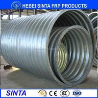 Large diameter corrugated steel pipe, galvanized corrugated steel pipe price