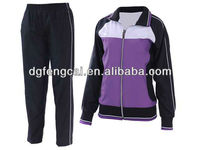 65% cotton and 35% polyester tracksuits sport wears for women