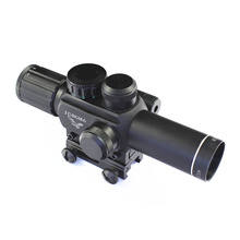 Hot sale high quality M7 comfortable vision scope for rifle 4x25, hunting riflescope with red dot laser