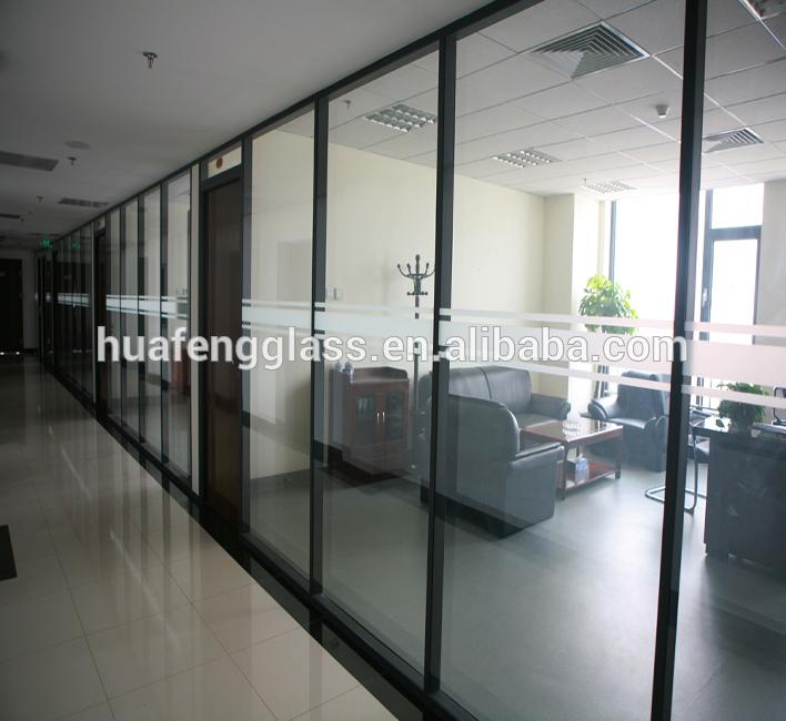 Wohnzimmer/Bad/bürotrennwand glaswand mit niedrigeren preis
