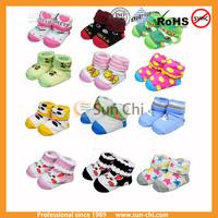 newest design cute 100%cotton soft wear lovely pattern baby socks in hotsale