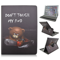 Don't touch my pad 360 Rotating PU Leather Stand Case For Apple iPad Pro