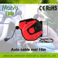 Small size extension PVC cord auto retractable power cable reel