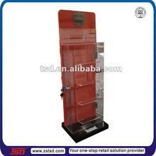 TSD-A561 China factory custom Binoculars display stand/acrylic wood shelf unit/lockable plexiglass display cabinet