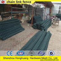 2015Competive price!! 9 gauge basketball court of chain link temporary fence panel