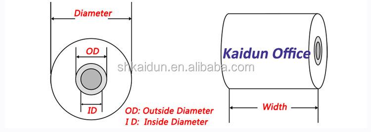 3-1/8*230 caixa registradora papel manufaturer térmica caixa registradora papel com impressão