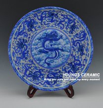Decorative Blue and White Ceramic Porcelain Wall Hanging Plates