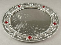round iron plate with rose patterm
