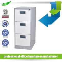 Cheap 3 drawers vertical stainless steel file cabinet/used metal filing cabinet for sale