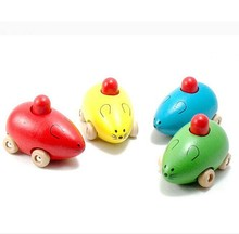 Beautifully designed Mini wooden toy cars for babies,Lovely Wood mouse cars made in china wholesale