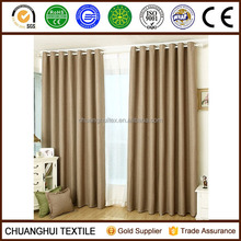 Thermal Insulated polyester blackout window curtain non-toxic Grommet curtains