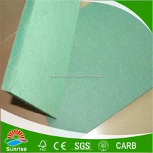 Shandong factory supply 4*8*12/15/18mm of Water proof MDF Board with Green color