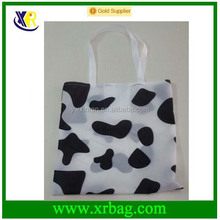 Factory custom printed cow pattern promotional foldable shopping bag