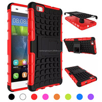 For Huawei P8 Lite Case Rugged Kickstand Case Hard Back Phone Case Hybrid Cover
