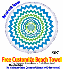 Home,Hotel,Sports,Beach,Gift Use and Woven Technics round beach towel with tassels