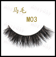 Milkyway high quality thick fluffy crossing horse hair lashes