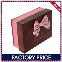 Factory price custom made wholesale paper rigid gift box