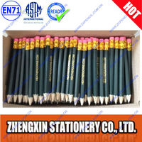 Personalized cheap bulk wood mini hex golf pencils with erasers