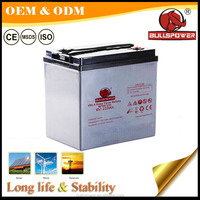 Sealed lead acid 6v 210ah rechargeable deep cycle battery for Photovoltaic systems