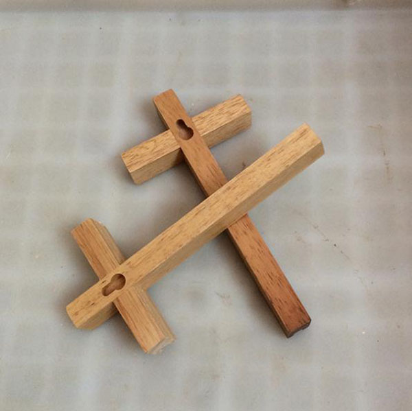 wooden cross wholesale christian handmade cross natural