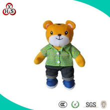plush toy standing tiger doll with clothes