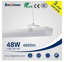 ring lighting leeds factory shop Ceiling hanging led linear pendant light 1200mm 48W