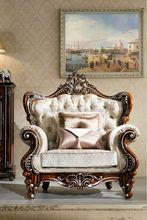 Italian furiture classical luxury wooden sofa design living room sofa