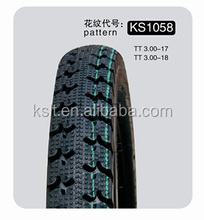 heavy duty Best quality motorcycle tire of 3.00-17 off-road with 48% rubber content