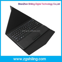 Leather Case Bluetooth Keyboard For Tablet PC 10.1 Inch ABS Bluetooth 3.0 Keyboard With Touchpad, PU Leather Case