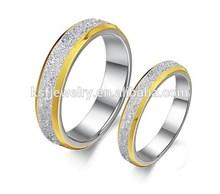 moda de acero inoxidable de la boda de oro al por mayor anillos de gife mejor para los amantes de la 2015