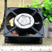 ADC12 Big Airflow Motorcycle SUNON Two Ball Cooling Fan