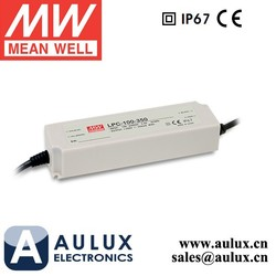 Meanwell LED Driver Waterproof IP67 LPC-100-350 Mean Well 100W 350mA LED Driver