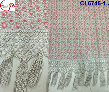 2016 New year hot sale heavy cold laces for nigerian of CL6746 top quality african guipure lace for fancy party dresses fabric