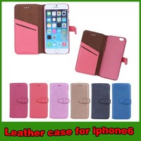 New arrival pu leather case for iphone 6 6s cover
