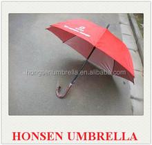honsen plastic curve handle three folding umbrella