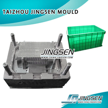1 cavity hot/cold runner plastic injection crate mould for vegetable