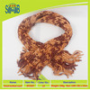 wholesale china super thick knitting scarf with 100% polyester yarn knitting in low price