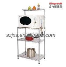 wire mesh steel shelf for home storage kitchen bathroom