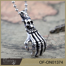 Yiwu Jewelry Wholesale Halloween Gifts Skull Pictures Of Necklace For Men