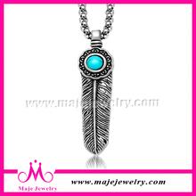feather shaped fine sword designs blue pearl pendant bulk fashion jewelry china